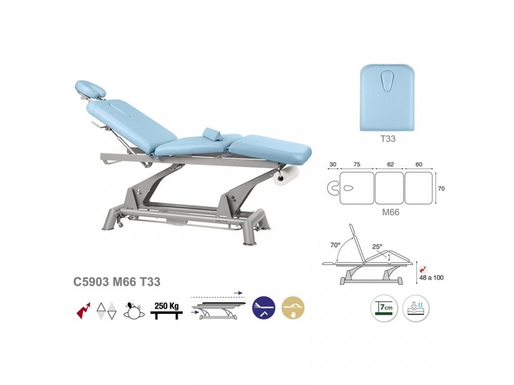 Table de massage lectrique en 3 plans ecopostural c5903 - Table de massage electrique occasion ...