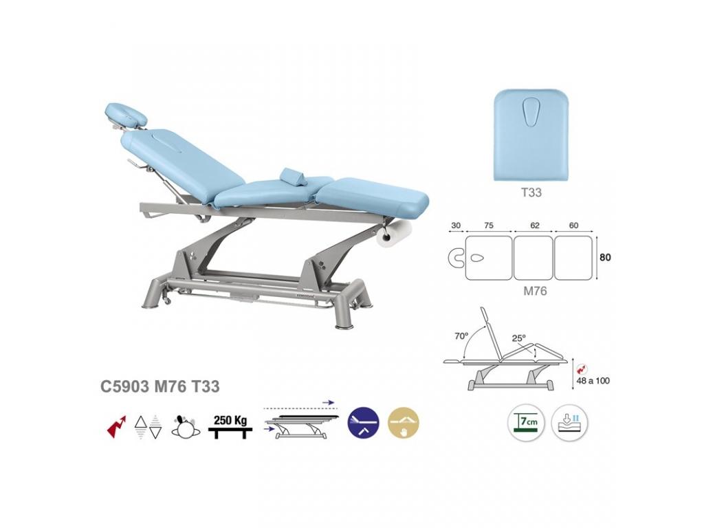 Table de massage lectrique en 3 plans ecopostural c5903 - Table electrique osteopathie occasion ...