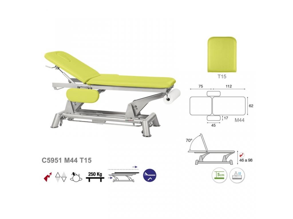 table de massage lectrique en 2 plans ecopostural c5951. Black Bedroom Furniture Sets. Home Design Ideas
